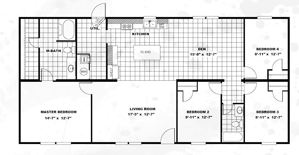 TruMHMARVEL DOUBLEWIDE4 Bedroom