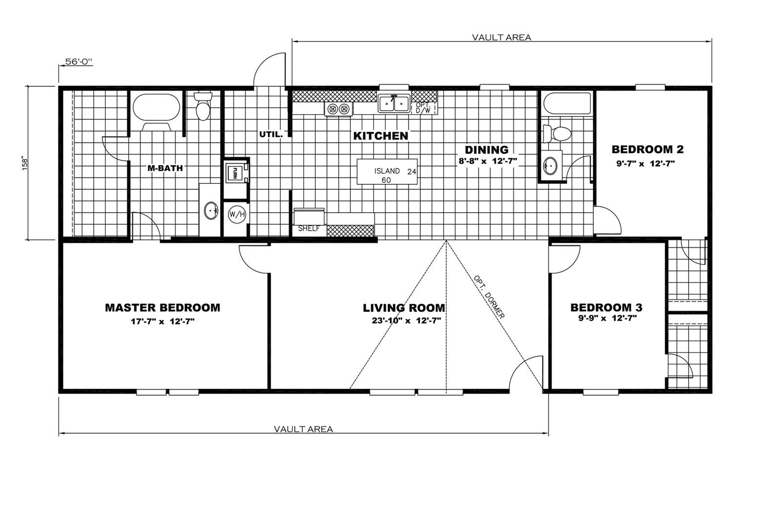 X Mobile Home Floor Plan on 28 x 56 mobile home, 24 x 56 mobile home, 16 x 56 mobile home, 28x60 mobile home, 24 x 48 mobile home,